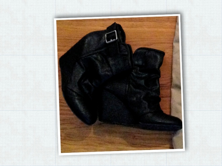 If I had a meeting at work, really depending on my mood and the type of meeting (Internal Design Review = sneakers, Presenting to Buyer = Booties), I would change in to these booties, to look a little more dressed up.